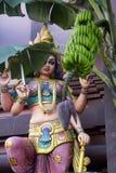 Ινδική θεά στο ναό Στοκ Φωτογραφία