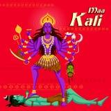 Ινδική θεά Kali με Shiva Στοκ εικόνα με δικαίωμα ελεύθερης χρήσης