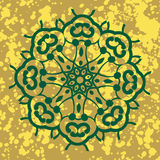 Ινδική διακόσμηση, kaleidoscopic floral σχέδιο, Στοκ Εικόνες