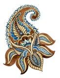 Ινδική διακόσμηση Watercolor Στοκ φωτογραφίες με δικαίωμα ελεύθερης χρήσης