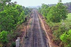 Ινδική διαδρομή σιδηροδρόμων Στοκ Εικόνες