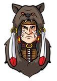Ινδική μασκότ Apache Στοκ φωτογραφία με δικαίωμα ελεύθερης χρήσης