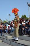 Ινδική φρουρά στα σύνορα Wagah Στοκ εικόνα με δικαίωμα ελεύθερης χρήσης