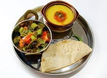 Ινδική χορτοφάγος πιατέλα Στοκ Εικόνα