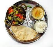 Ινδική χορτοφάγος πιατέλα Στοκ φωτογραφίες με δικαίωμα ελεύθερης χρήσης