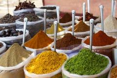Ινδική bazaar αγορά Goa Anjuna καρυκευμάτων Στοκ Εικόνες