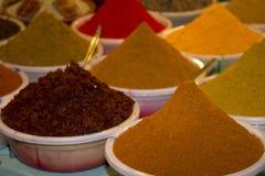 Ινδική bazaar αγορά Goa Anjuna καρυκευμάτων Στοκ Φωτογραφίες