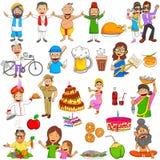 Ινδικοί λαοί Emoji για τη διαφορετικά έκφραση και το αίσθημα Στοκ Φωτογραφία