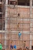Ινδικοί εργάτες οικοδομών Στοκ φωτογραφία με δικαίωμα ελεύθερης χρήσης