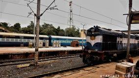Ινδικοί σιδηρόδρομοι τραίνων Στοκ εικόνα με δικαίωμα ελεύθερης χρήσης