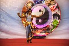 Ινδικοί χορευτές στο φεστιβάλ της Ανατολής στη Ρώμη Ιταλία Στοκ Εικόνα