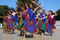Ινδικός λαϊκός χορός στοκ εικόνες με δικαίωμα ελεύθερης χρήσης