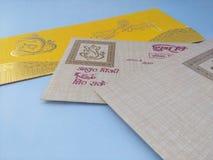 ινδικός γάμος καρτών Στοκ εικόνα με δικαίωμα ελεύθερης χρήσης
