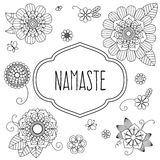 Ινδικός ευπρόσδεκτος χαιρετισμός - Namaste Στοκ Εικόνες