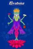 Ινδικός Θεός Brahma στο λωτό Στοκ φωτογραφία με δικαίωμα ελεύθερης χρήσης