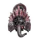 Ινδικός Θεός Ganesh ελεφάντων στο λευκό στοκ εικόνες