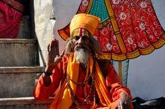Ινδικός μοναχός ιερέων Στοκ εικόνες με δικαίωμα ελεύθερης χρήσης