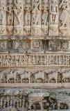 Ινδικό έργο τέχνης ναών Στοκ φωτογραφία με δικαίωμα ελεύθερης χρήσης