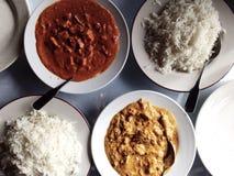 Ινδικό γεύμα Στοκ Φωτογραφία