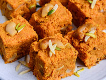Ινδικό γλυκό Gajar Halwa Στοκ Φωτογραφία