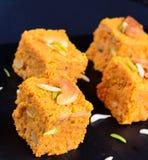 Ινδικό γλυκό Gajar Halwa Στοκ Εικόνα