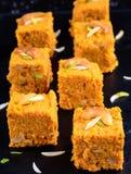 Ινδικό γλυκό Gajar Halwa Στοκ Εικόνες