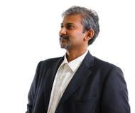 Ινδικό επιχειρησιακό άτομο που εξετάζει την πλευρά Στοκ εικόνες με δικαίωμα ελεύθερης χρήσης