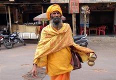 Ινδικό ιερό άτομο sadhu Στοκ φωτογραφία με δικαίωμα ελεύθερης χρήσης