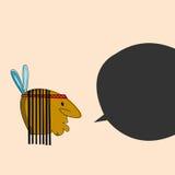 Ινδικό κεφάλι με το καφετί δέρμα eps σχεδίου 10 ανασκόπησης διάνυσμα τεχνολογίας Στοκ εικόνες με δικαίωμα ελεύθερης χρήσης