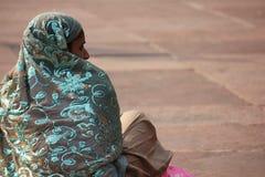 Ινδικό κορίτσι από την πίσω πλευρά Στοκ Εικόνα