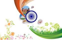 Ινδικό κολάζ σημαιών Στοκ φωτογραφία με δικαίωμα ελεύθερης χρήσης