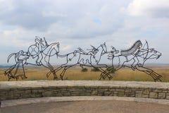 Ινδικό μνημείο σε λίγο Bighorn Στοκ Φωτογραφία