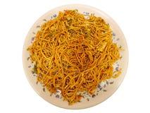 Ινδικό πιάτο - νουντλς αυγών Στοκ εικόνα με δικαίωμα ελεύθερης χρήσης