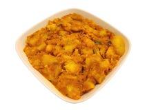Ινδικό πιάτο - πικάντικες πολτοποιηίδες πατάτες Στοκ φωτογραφίες με δικαίωμα ελεύθερης χρήσης