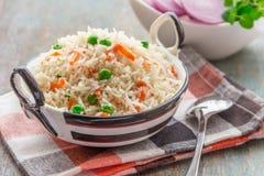 Ινδικό πιάτο ρυζιού Στοκ φωτογραφία με δικαίωμα ελεύθερης χρήσης