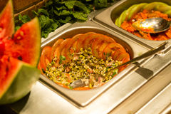 Ινδικό πιάτο σαλάτας Στοκ φωτογραφία με δικαίωμα ελεύθερης χρήσης