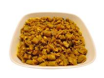 Ινδικό πιάτο - τηγανητά γαλλικών φασολιών Στοκ εικόνες με δικαίωμα ελεύθερης χρήσης