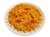 Ινδικό πιάτο - τηγανισμένο κοτόπουλο ρύζι Στοκ Φωτογραφία