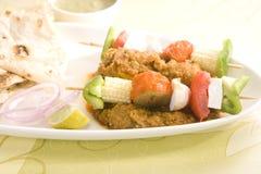 Ινδικό πιάτο Kathi Kebab Στοκ Εικόνες