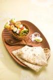 Ινδικό πιάτο Kathi Kebab Στοκ φωτογραφία με δικαίωμα ελεύθερης χρήσης