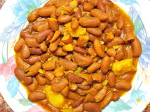 Ινδικό πιάτο - Rajma ή κόκκινο masala φασολιών νεφρών Στοκ Φωτογραφίες