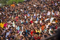 Ινδικό πλήθος στην τελετή συνόρων Στοκ Φωτογραφία