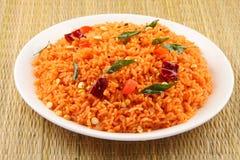 Ινδικό ρύζι ντοματών Στοκ Φωτογραφίες
