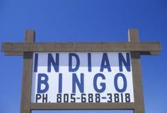 Ινδικό σημάδι Bingo στο βόρειο ασβέστιο Στοκ φωτογραφία με δικαίωμα ελεύθερης χρήσης