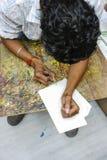 Ινδικό σχέδιο ατόμων Στοκ φωτογραφία με δικαίωμα ελεύθερης χρήσης