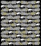Ινδικό σχέδιο με το μοτίβο ελεφάντων Στοκ φωτογραφία με δικαίωμα ελεύθερης χρήσης
