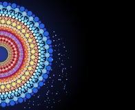 Ινδικό σχέδιο των χρωματισμένων κύκλων Στοκ Εικόνες