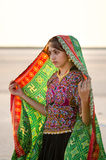 Ινδικό του χωριού νέο κορίτσι Gujarati Στοκ Φωτογραφία