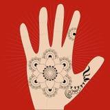 Ινδικό χέρι ζωγραφικής Στοκ εικόνα με δικαίωμα ελεύθερης χρήσης