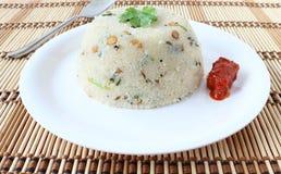 Ινδικό χορτοφάγο πιάτο Upma στοκ φωτογραφίες με δικαίωμα ελεύθερης χρήσης